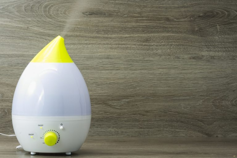 Humidifier on a wooden background