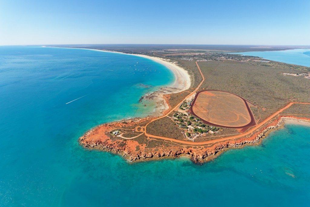 Aerial view of Australian beach