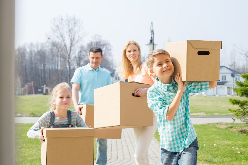 Family moving in