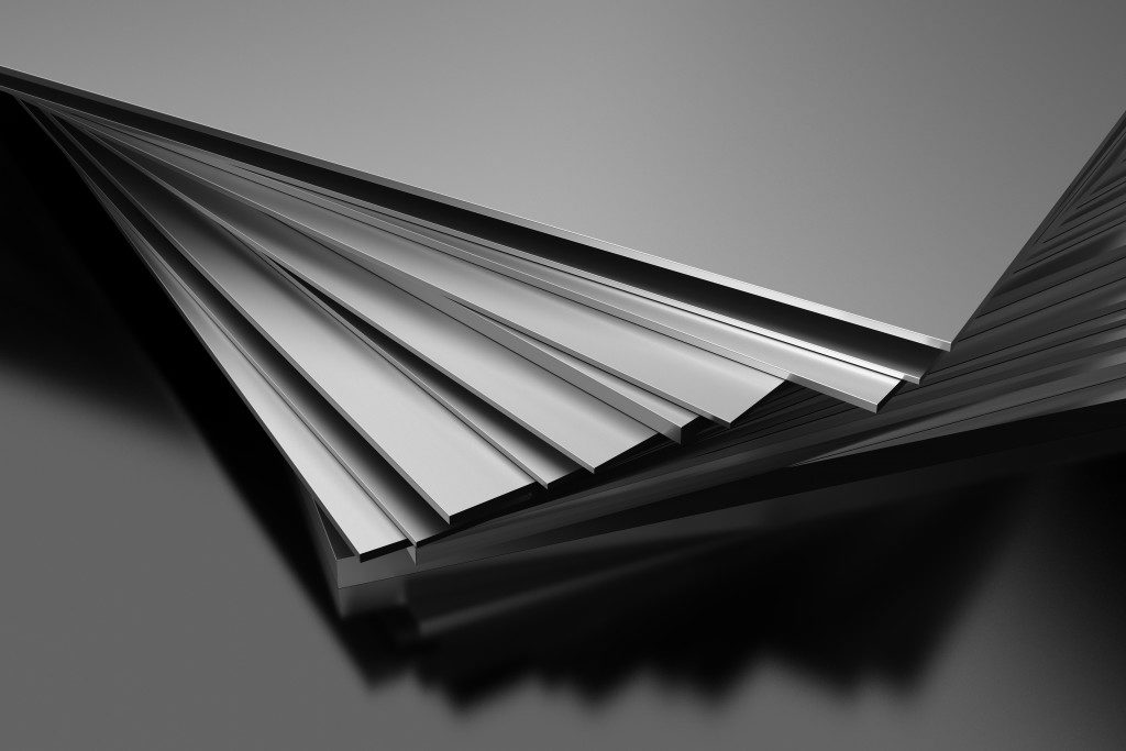 aluminum sheets stacked