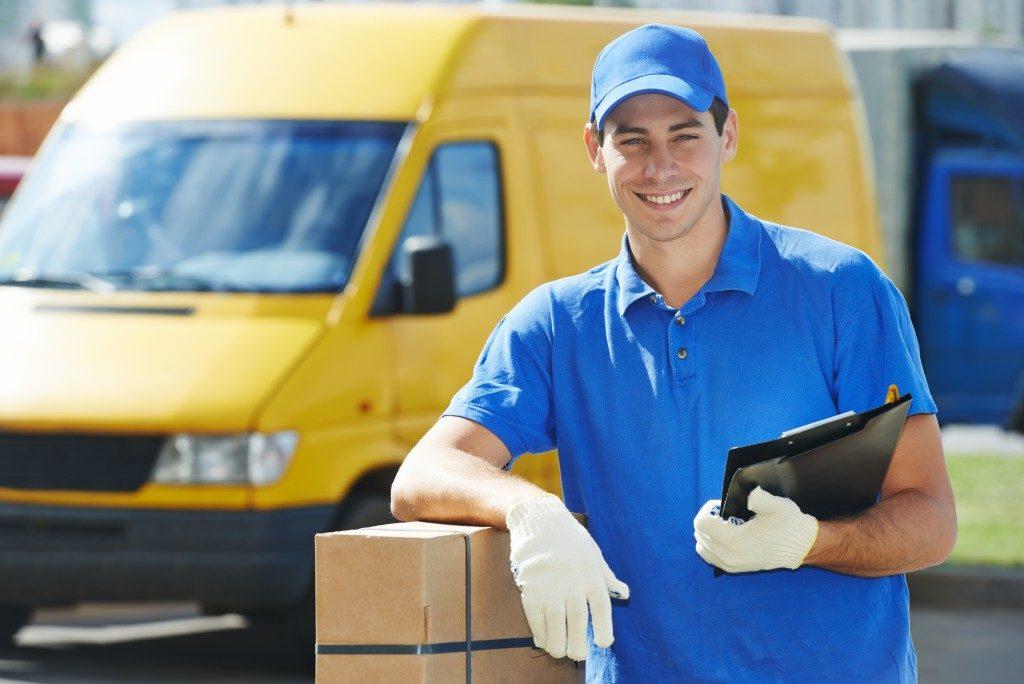 man delivering a parcel