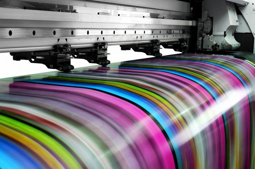 large printer printing something