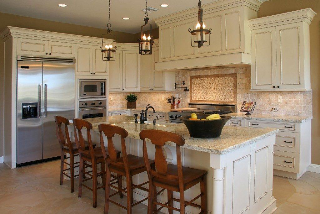 A modern, luxury kitchen