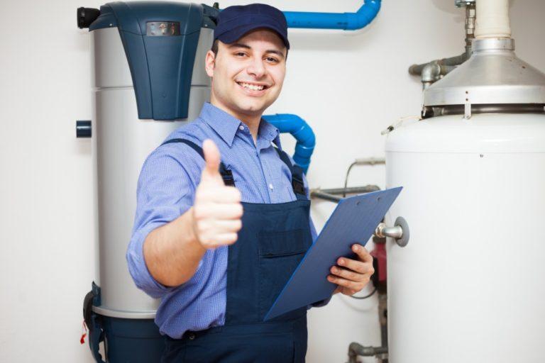 water tank and repairman