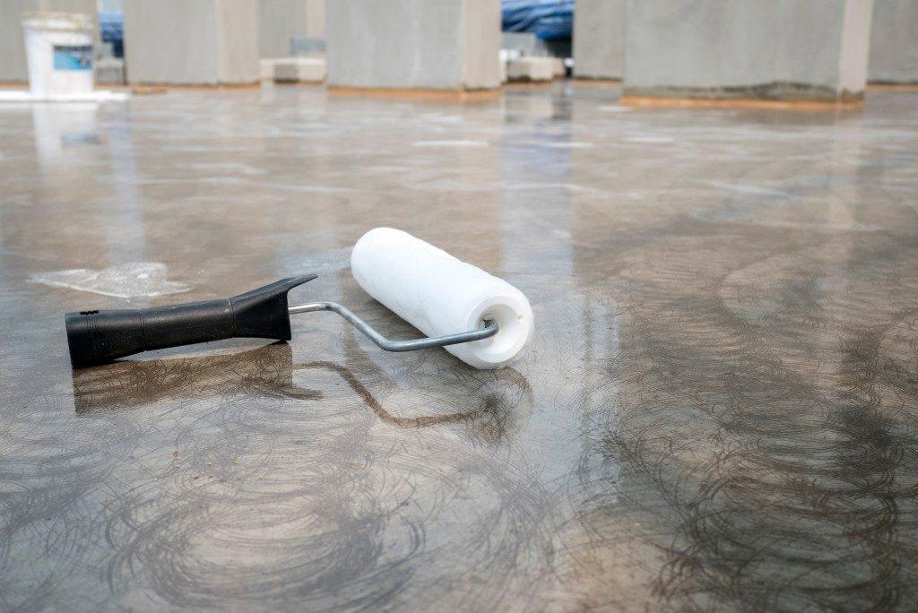 epoxy application on floor