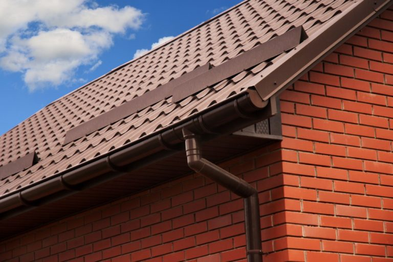 close up shot of a home's roof