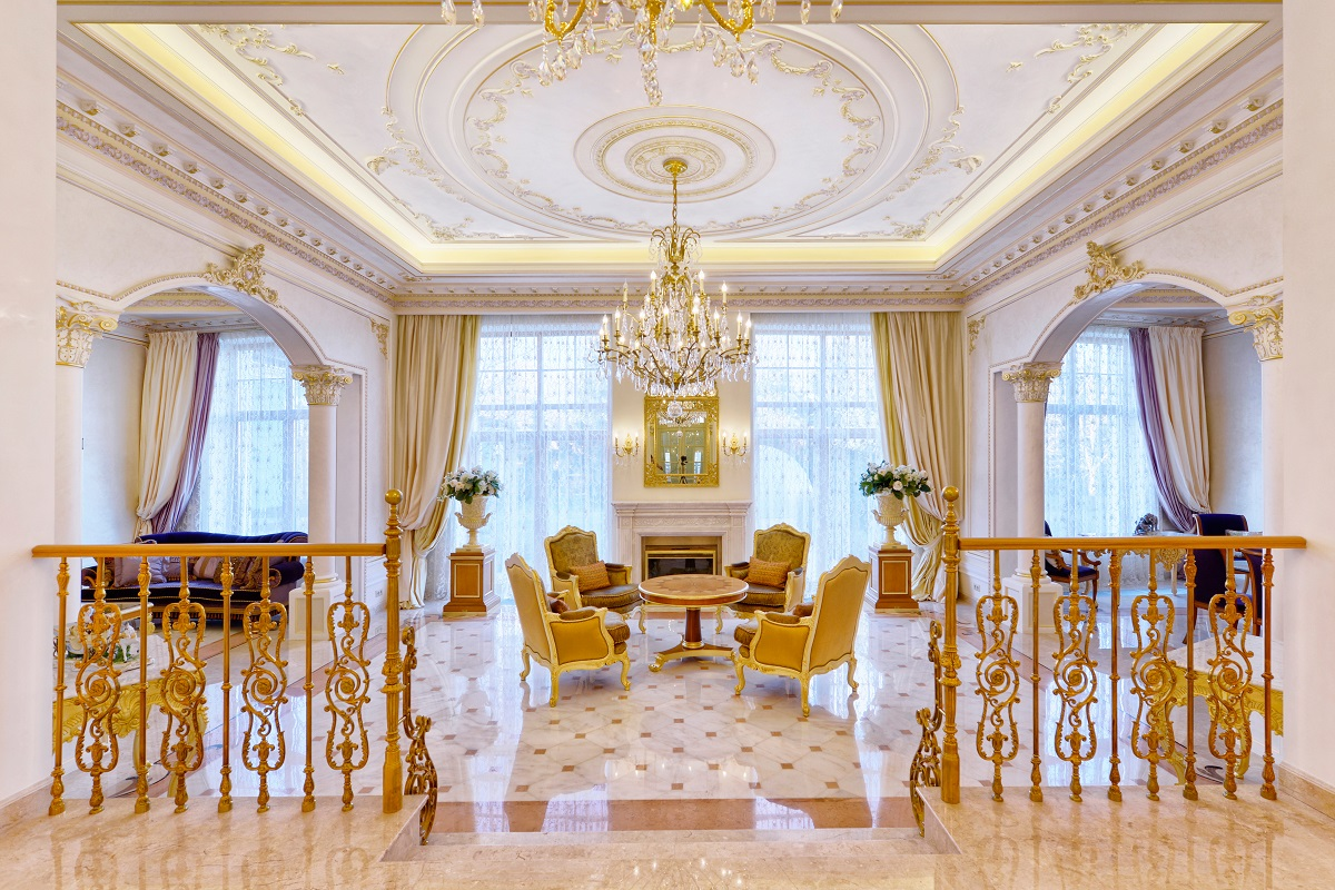 Vintage interior design of luxury house