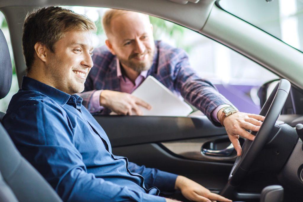 Guy renting car