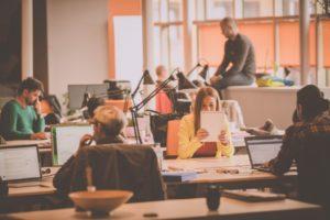 busy open office