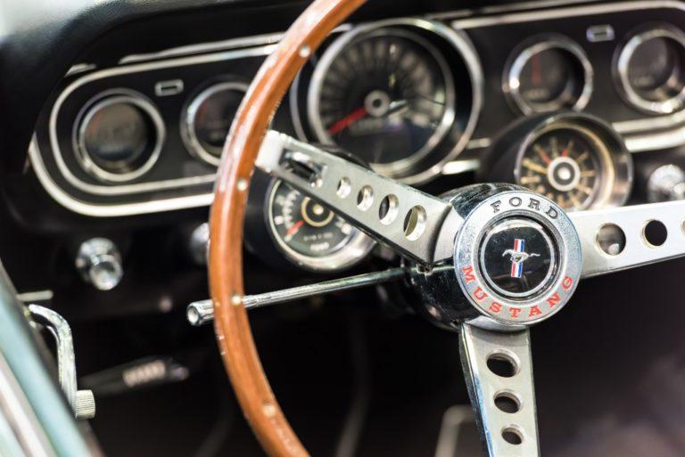 car interior driver seat