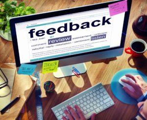 feedback dictionary on desktop monitor