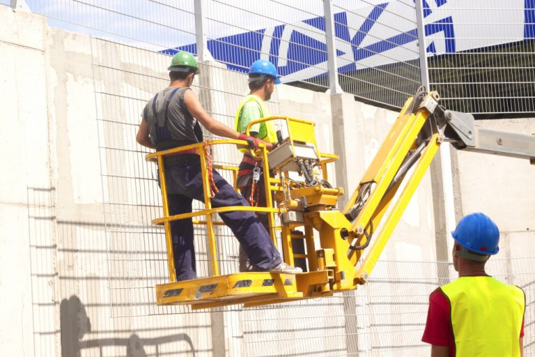 men in a construction site
